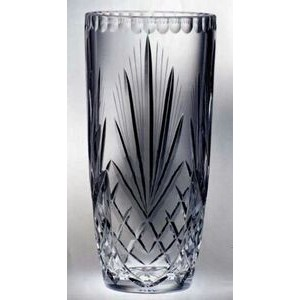 "Raleigh Barrel Trophy Vase - Lead Crystal (8""x4"")"