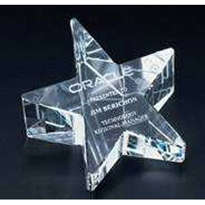 Slant Star Paperweight - Optic Crystal