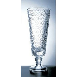 "Diamond Net Vase - Italian Lead Crystal (15 1/2""x6"")"