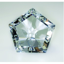 "Pentagon Paperweight - Optic Crystal (1 3/4""x2""x2 1/4"")"