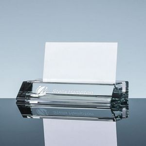 FDIC Slotted Business Card Holder - Starfire Glass