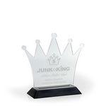 Custom Regal Crown Award on a Black Base - Acrylic (4