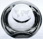 Custom Globe Dome Paperweight - Optic Crystal