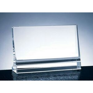 "Milan Horizontal Plaque Award - Optic Crystal (3""x5""x1 3/16"")"
