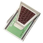 Custom Silver Stailess Steel Money Clip & Credit Card Holder with Brown Crocodile Pattern
