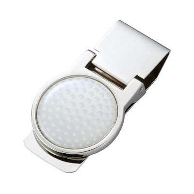 Sport Series Nickel Plated Money Clip - Golf Ball