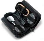 Custom 5 Piece Shoe Shine Deluxe Gift Set in PU Leatherette Case