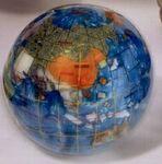 Custom Gemstone Globe Paperweight