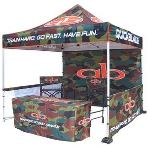 Digital Package 3 Pop Up Canopy Tent w/Steel Frame (10'x10')