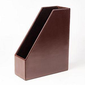Custom Brown Econo Line Leather Magazine Rack