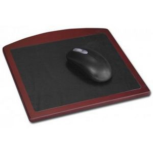 Rosewood Wood & Leather Mouse Pad