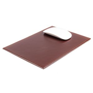 Custom Brown Bonded Leather Mouse Pad