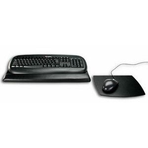 Black Classic Leather Mouse Pad & Keyboard Pad Kit