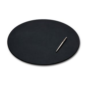 Custom Black Top Grain Leather Classic Oval Conference Pad