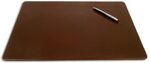 Custom Rustic Brown Top Grain Leather Classic Conference Pad (17