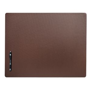 Custom Chocolate Brown Leatherette Classic Conference Pad (24