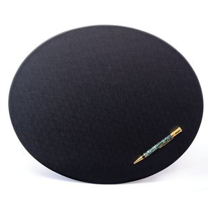 Custom Black Leatherette Classic Oval Conference Pad