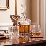 Custom Nachtmann Aspen Decanter w/ 2 Whiskey Tumblers Set
