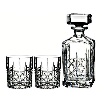 Waterford BRADY PROMOTIONAL BARWARE AND STEMS DECANTER & DOF, PAIR