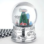 Custom Reed & Barton Race Car Water Globe
