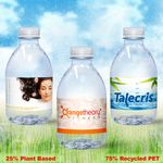 Custom 8 oz. Custom Label Spring Water w/ Flat Cap - Clear Bullet ECO Bottle
