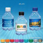 Custom 8 oz. Custom Label Spring Water w/ Flat Cap - Clear Bottle
