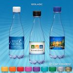 Custom 12 oz. Spring Water Full Color Label, Clear Glastic Bottle w/Flat Cap