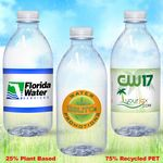 Custom 12 oz. Custom Label Spring Water w/ Flat Cap - Clear Bullet ECO Bottle