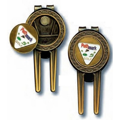 Golf 3 In 1 Money Clip w/ Divot Tool & Ball Marker