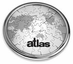 Custom Stainless Steel, Magnetic Coaster Puzzle Featuring a World Map Sand Etched Design