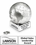 Custom Stainless Steel Magnetic Globe Puzzle-LARGE size 3 3/4