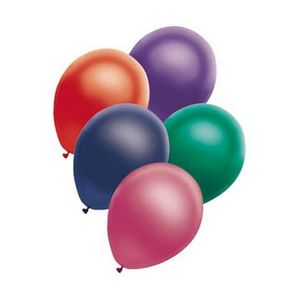 12 Metallic Balloons - Assorted Colors