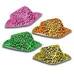 Custom Neon Animal Print Gangster Hat