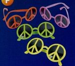 Custom Neon Peace Sign Sunglasses