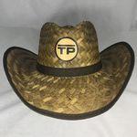 Custom Dark Brown Straw Cowboy Hat