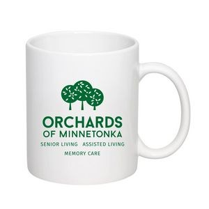 11 Oz. White C-Handle Mug