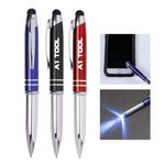 Custom 3-in-1 stylus metal ballpoint pen & LED flashlight