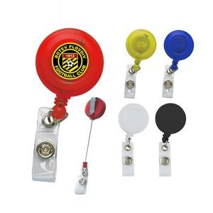 Round Retractable Badge Holder with digital full color process
