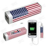Custom US Flag Design Power Bank