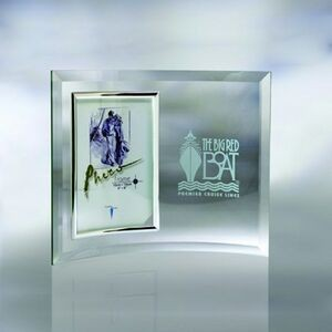 "9"" Curve Beveled Picture Frame Award"