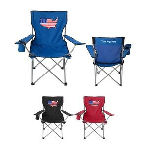 Flag Design Folding Lounge Chair