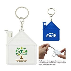 House Tape Measure W/Key Ring