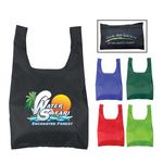 Custom Nylon Foldable Shopping Tote Bag (Full Color Process)