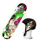 Custom Punisher JINX Skateboard/Helmet Combo Pack