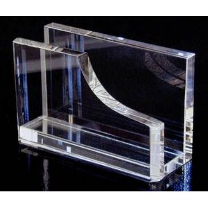 "Crystal Business Card Holder (2 1/2""x4""x1 1/2"")"
