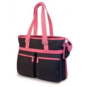Eco-Friendly Tote - Black with Pink Trim