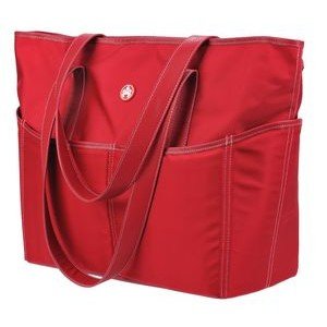 Red/White Tote Bag - Large