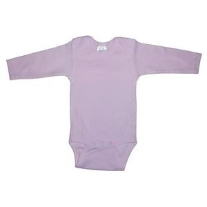 Pink Rib Knit Long Sleeve Onezie