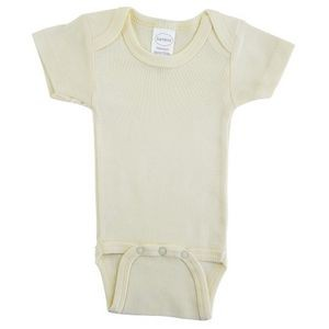 Yellow Rib Knit Short Sleeve Onezie