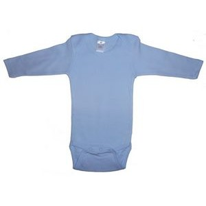 Blue Rib Knit Long Sleeve Onezie